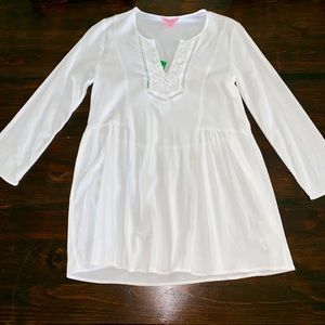 Lilly Pulitzer Tops - Lilly Pulitzer White Lyndsea Tunic NWT